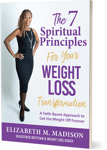 The 7 Spiritual Principles for Your Weight Loss Transformation, by Elizabeth M. Madison (book cover)